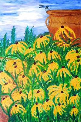 Painting - Moms Garden by Randolph Gatling