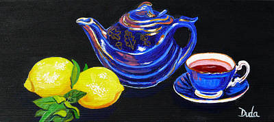Teapot Painting - Mom's Teapot by Susan Duda