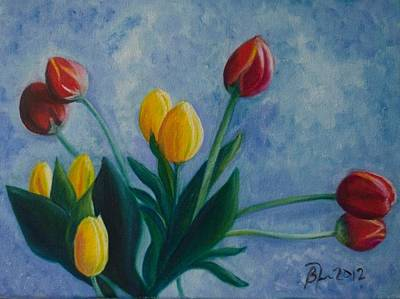 Mom's Tulips Art Print by Beatriz Topete