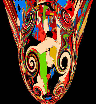 Mixed Media - Mom's Venetian Glass Vase 17 by Natalie Holland