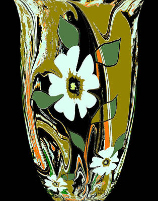 Mixed Media - Mom's Venetian Glass Vase 8 by Natalie Holland