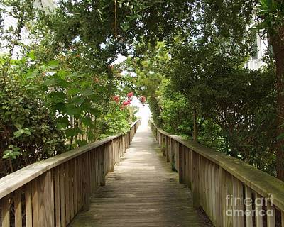 Wrightsville Beach Photograph - Mom's Walkway by Joann Bristol