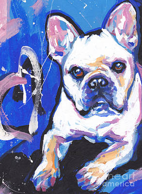 Frenchie Painting - Mon Cherie Amour by Lea S