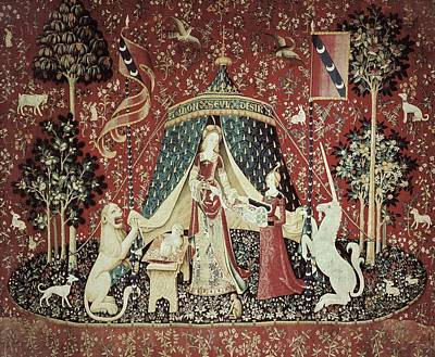Tapestries Textiles Photograph - Mon Seul Desir To My Only Desire. 1490 by Everett