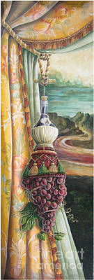 Cork Screw Painting - Mona Chianti Tassel by Suzanne Rende-Chorno