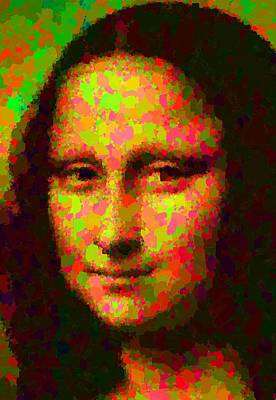 Painting - Mona Lisa - Abstract by Samuel Majcen