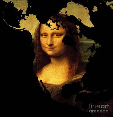 Madonna Digital Art - Mona Lisa  North America by John Clark