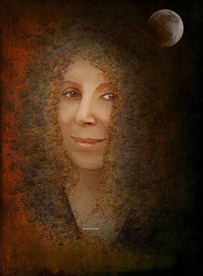 Solar Eclipse Painting - Mona Mia by Angela A Stanton