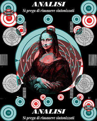 Digital Art - Mona Tv Test Pattern by Eric Edelman