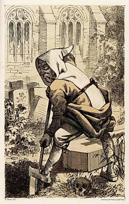 Trappist Monk Drawing - Monachus Latrapius A Satirical Drawing by Mary Evans Picture Library