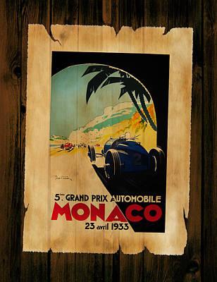 Monaco 1933 Art Print by Mark Rogan