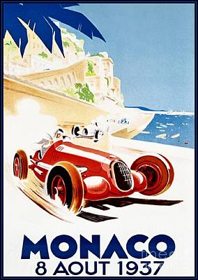 Painting - Monaco - 1937 by Roberto Prusso
