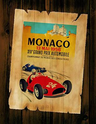 Monaco 1956 Art Print by Mark Rogan