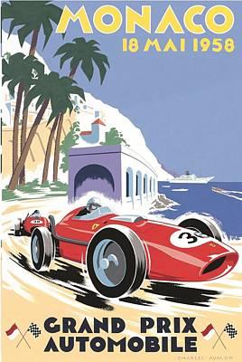 Monaco Grand Prix 1958 Art Print
