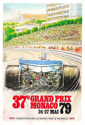 Monaco Grand Prix 1979 Print by Georgia Fowler