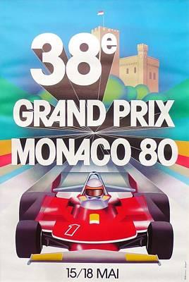 Monaco Grand Prix 1980 Art Print