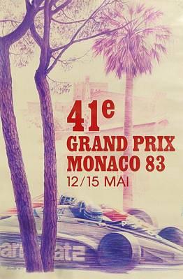 Monaco Grand Prix 1983 Art Print