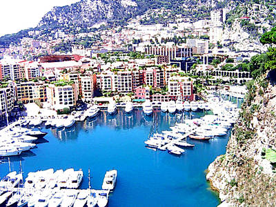 Art Print featuring the photograph Monaco by Marwan Khoury