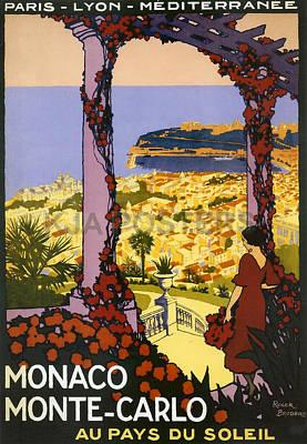 Monaco - Monte Carlo Art Print by Georgia Fowler