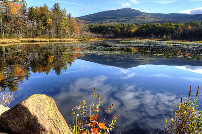 Autumn Photograph - Monadnock Reflections by Donna Doherty