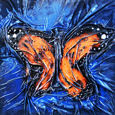 Mixed Media - Monarch 1 by Angela Stout