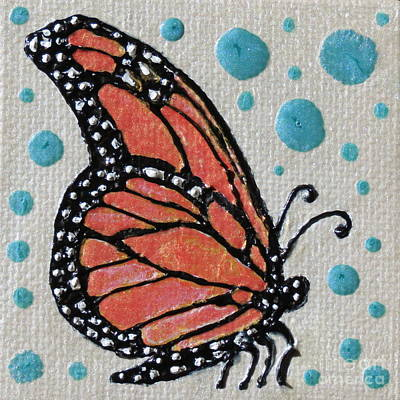 Orange And Black Butterfly Painting - Monarch by Aimee Mouw