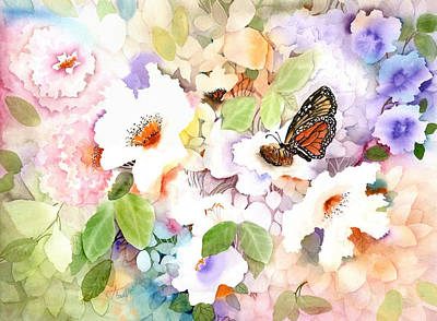 Butterfly Painting - Monarch At My Garden by Neela Pushparaj