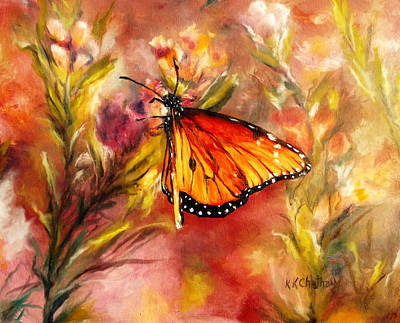 Chatham Painting - Monarch Beauty by Karen Kennedy Chatham
