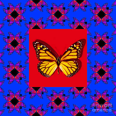 Photograph - Monarch Butterfly Abstract Window 20130203m133 by Wingsdomain Art and Photography