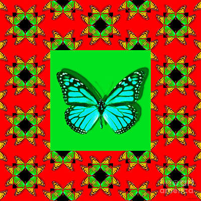 Photograph - Monarch Butterfly Abstract Window 20130203p0 by Wingsdomain Art and Photography