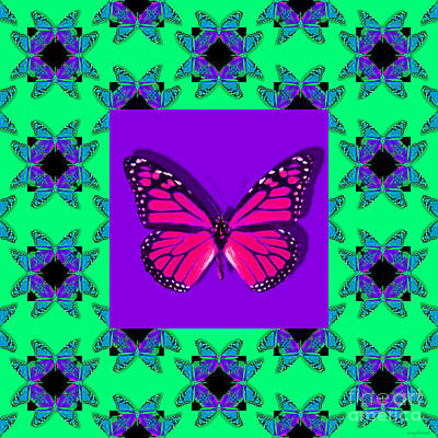 Monarch Butterfly Abstract Window 20130203p148 Art Print by Wingsdomain Art and Photography