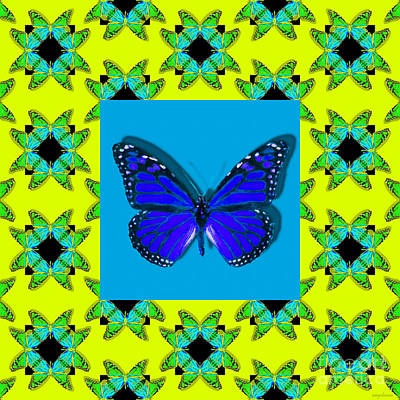 Photograph - Monarch Butterfly Abstract Window 20130203p68 by Wingsdomain Art and Photography