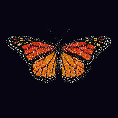 Digital Art - Monarch Butterfly Bedazzled by R  Allen Swezey