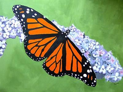 Butterfly Painting - Monarch Butterfly by Dan Twyman