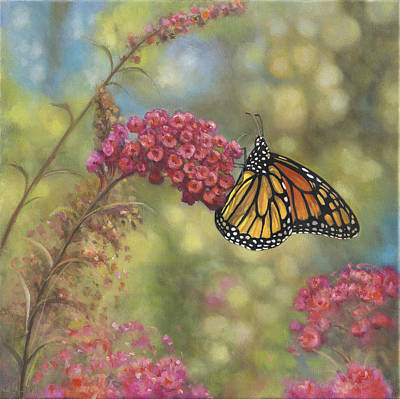 Butter Fly Painting - Monarch Butterfly by John Zaccheo