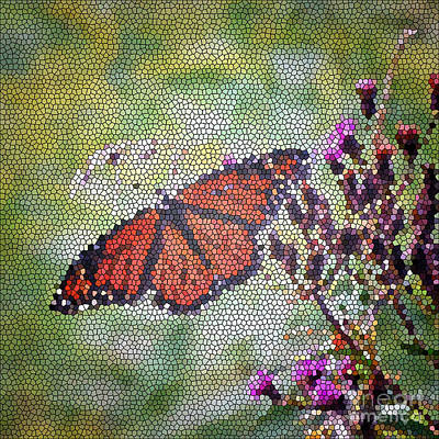 Photograph - Monarch Butterfly Mosaic by Kerri Farley