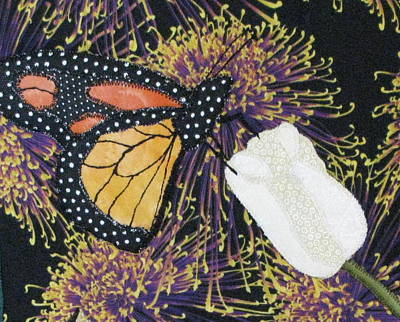 Tapestries Textiles Tapestry - Textile - Monarch Butterfly On White Tulip by Lynda K Boardman