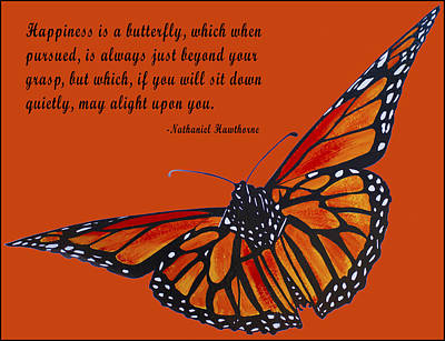 Bug Digital Art - Monarch Butterfly Pismo Beach by Barbara Snyder