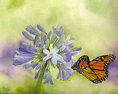 Painting - Monarch Butterfly by Terry Albert
