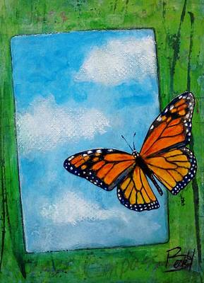 Development Mixed Media - Monarch In The Mail by Becky Ihlow