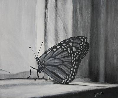 Monarch In The Window Art Print