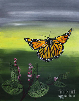Painting - Monarch Landing by Jack G  Brauer
