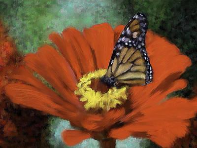 Monarch Landing Art Print by Renee Skiba