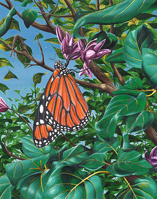 Monarch Butterfly Painting - Monarch Muse by Joe Burgess