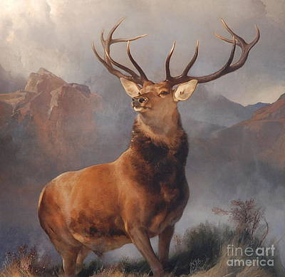 Gazelle Painting - Monarch Of The Glen by Celestial Images