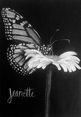 Painting - Monarch On A Daisy by Jeanette Fellows