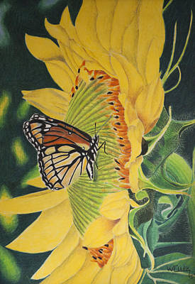Painting - Monarch Summer by Wade Clark