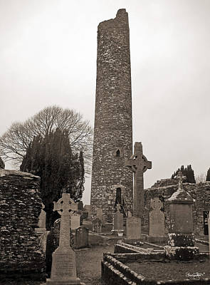 Photograph - Monasterboice- Antique Black And White by Shanna Hyatt