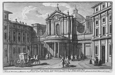 Digital Art - Monastero Dei Canonici Lateranensi E Chiesa Di S. Maria Della P by Giuseppe Vasi