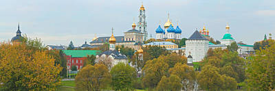 Holy Trinity Cathedral Photograph - Monastery And Cathedral In A City by Panoramic Images